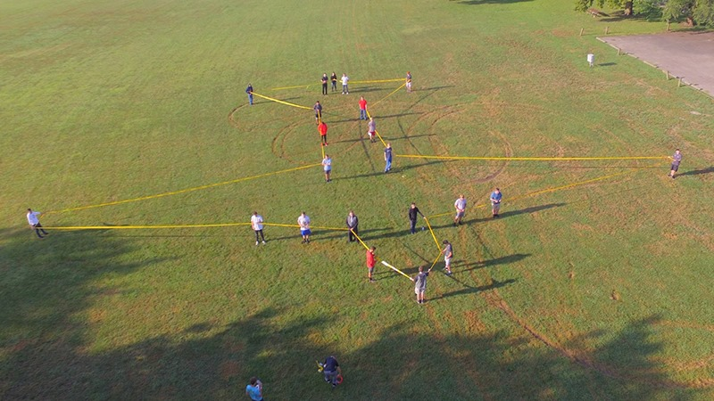 Butler Tech's Aviation Exploration program was given a task to complete within 48 hours of school. Their mission: create a life-size outline of a WW2 B-17 Bomber using their bodies. Read more here: https://www.butlertech.org/aviation-exploration-comes-to-life/